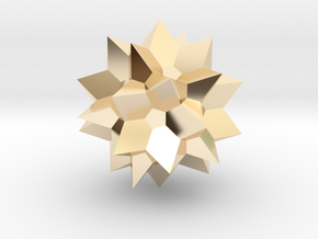 Go Geometric Homeware Star in 14K Yellow Gold: Small