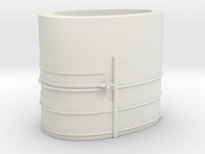 1/100 DKM Scharnhorst Funnel Part1 in White Natural Versatile Plastic