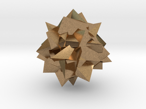 Go Geometric Homeware Mess in Natural Brass: Small