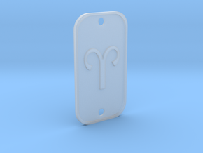 Aries (The Ram) DogTag V1 in Smooth Fine Detail Plastic