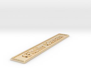 Nameplate Giulio Cesare in 14k Gold Plated Brass