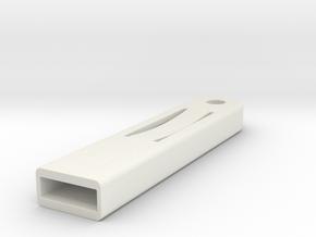 Saab Key Holder Quick Release Keyring in White Natural Versatile Plastic