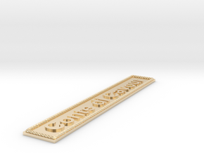 Nameplate Conte di Cavour in 14k Gold Plated Brass