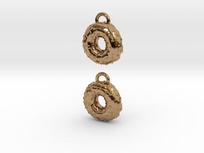 Donuts W Sprinkles Earrings in Polished Brass