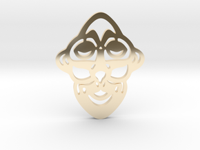 Mask Pendant in 14k Gold Plated Brass