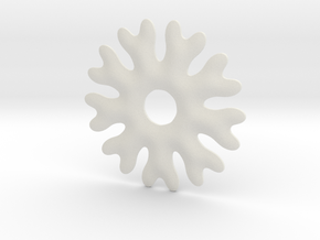 Soft snowflake base chape in White Natural Versatile Plastic