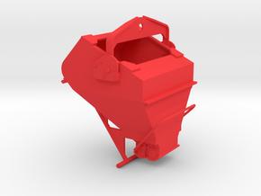 1:50 - 3 Cu yard laydown concrete bucket complete in Red Processed Versatile Plastic