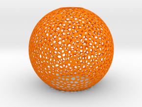 Sphere_vero_3_40mm in Orange Processed Versatile Plastic