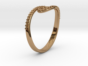 Tentacle Ring in Polished Brass