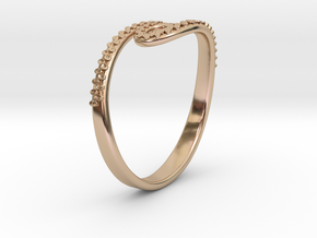 Tentacle Ring in 14k Rose Gold Plated