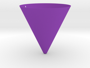 Hanging Cone Planter in Purple Processed Versatile Plastic