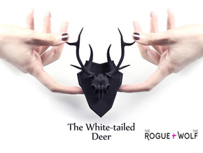 The White-tailed Deer Mini Faux Taxidermy in Black Strong & Flexible