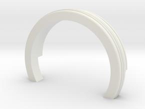 Neck Bottom in White Natural Versatile Plastic