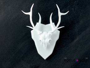 The White-tailed Deer Mini Faux Taxidermy in White Strong & Flexible
