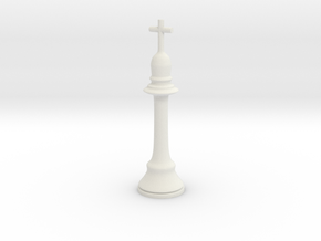 King Chess Piece in White Natural Versatile Plastic