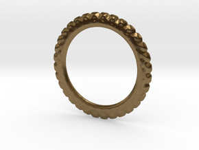 Soften ring shape for earrings or pendant in Natural Bronze