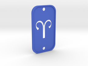 Aries (The Ram) DogTag V2 in Blue Processed Versatile Plastic
