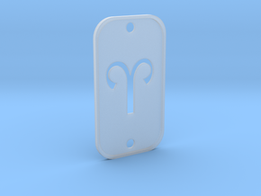 Aries (The Ram) DogTag V2 in Smooth Fine Detail Plastic