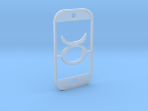 Taurus (The Bull) DogTag V3 in Smooth Fine Detail Plastic