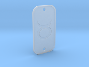 Taurus (The Bull) DogTag V4 in Smooth Fine Detail Plastic