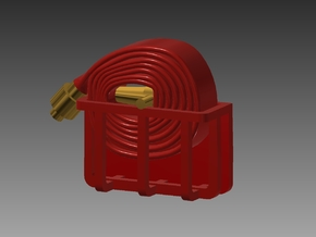 Fire Hose - Rolled x 6 1/87 in Smooth Fine Detail Plastic
