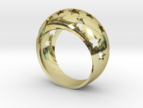 Anello All-Stars in 18K Yellow Gold: 6.25 / 52.125