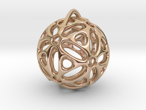 View of spherical games - part one. Pendant in 14k Rose Gold Plated Brass