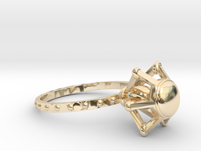 Solitaire ring in 14K Yellow Gold