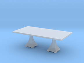 Miniature Double Jet Set Pedestal Dining Table  in Smooth Fine Detail Plastic: 1:48 - O