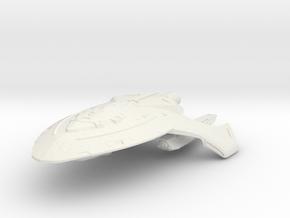 Federation Shark Class  BattleDestroyer in White Natural Versatile Plastic
