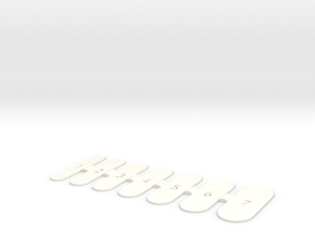 Nail Wrap Template (Small) in White Processed Versatile Plastic