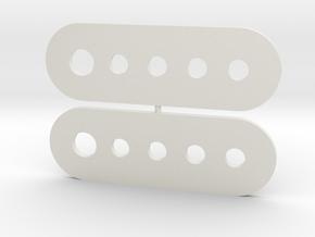 Straight Hinge in White Natural Versatile Plastic