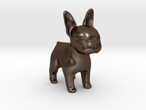 french bull dog in Polished Bronze Steel: Medium