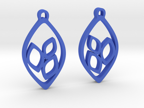 """Eyelets"" Earrings in Blue Processed Versatile Plastic"