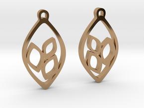 """""""Eyelets"""" Earrings in Polished Brass"""