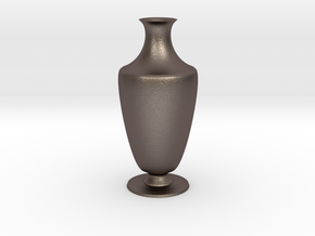 Vase 1345c in Polished Bronzed Silver Steel