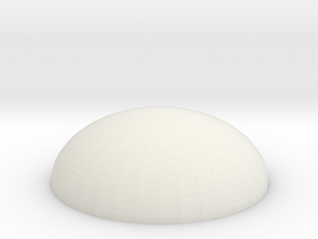 Dome base 50mm in White Natural Versatile Plastic