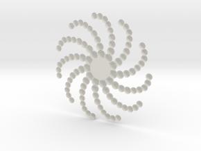 Sun in White Natural Versatile Plastic