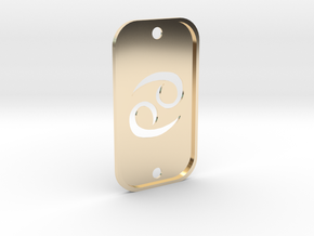 Cancer (The Crab) DogTag V2 in 14k Gold Plated Brass