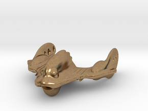 The crazy Robo Fish Spaceship! in Natural Brass
