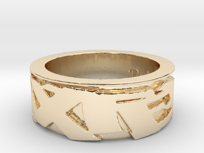Trixter Signature Series Ring IX in 14K Yellow Gold
