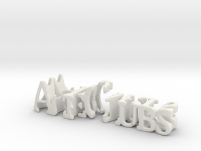 3dWordFlip: AceClubs/8Hearts in White Natural Versatile Plastic