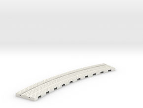 P-12stw-310-curve-1a in White Natural Versatile Plastic