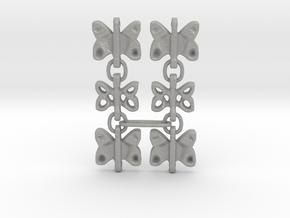 3 Dangling butterfly earrings (metallic plastic an in Aluminum