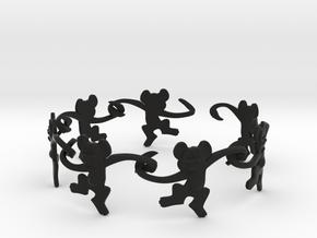 Monkey Band in Black Premium Versatile Plastic