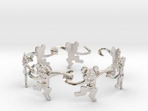 Monkey Band in Rhodium Plated Brass