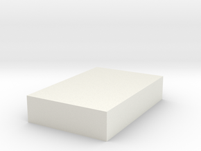 Rectangular Tab in White Natural Versatile Plastic
