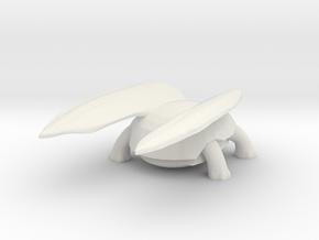 Flying Tortoise in White Natural Versatile Plastic