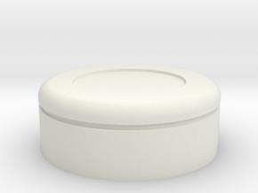 Gantz Suit Button in White Natural Versatile Plastic: Small