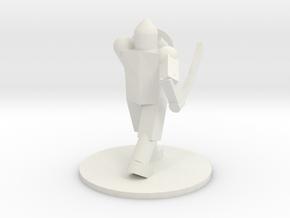 Simple Footman in White Natural Versatile Plastic